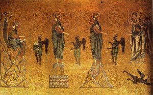 Temptation of Christ (mosaic in basilica di San Marco)